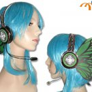 Miku Hatsune Headphones Cosplay Accessory, Green Butterfly!