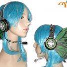 Miku Hatsune Headphones Cosplay Accessory, Green Butterfly!