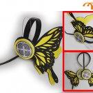 Miku Hatsune Headphones Cosplay Accessory, Yellow Butterfly, Small!