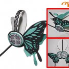 Miku Hatsune Headphones Cosplay Accessory, Blue Butterfly, Small!