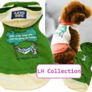 Dog Tee with hood (Green) - Big Dog Size