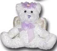 100% Soy Wax Dipped Purple Angel Bear