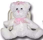 100% Soy Wax Dipped Pink Angel Bear