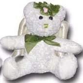 Green Plush Angel Bear