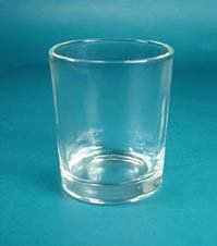 Single Clear Votive Holder