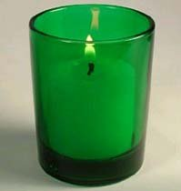 Single Green Votive Holder