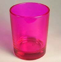 6 pack Pink Votive Holders