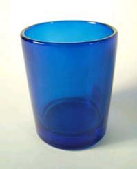 6 pack Blue Votive Holders