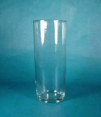 Clear Cylinder Style Vase