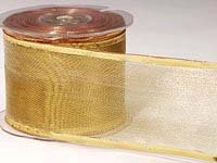 Gold Mesh Wired Ribbon (25yards)