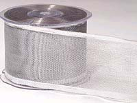 Silver Mesh Wired Ribbon (25 yards)