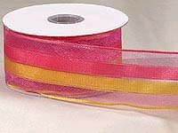 Pink/Yellow Sheer Stripe (10yards)