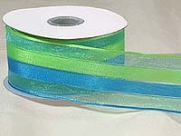 Green/Blue Sheer Stripe (10 yards)