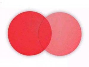 25 Red Tulle Circles