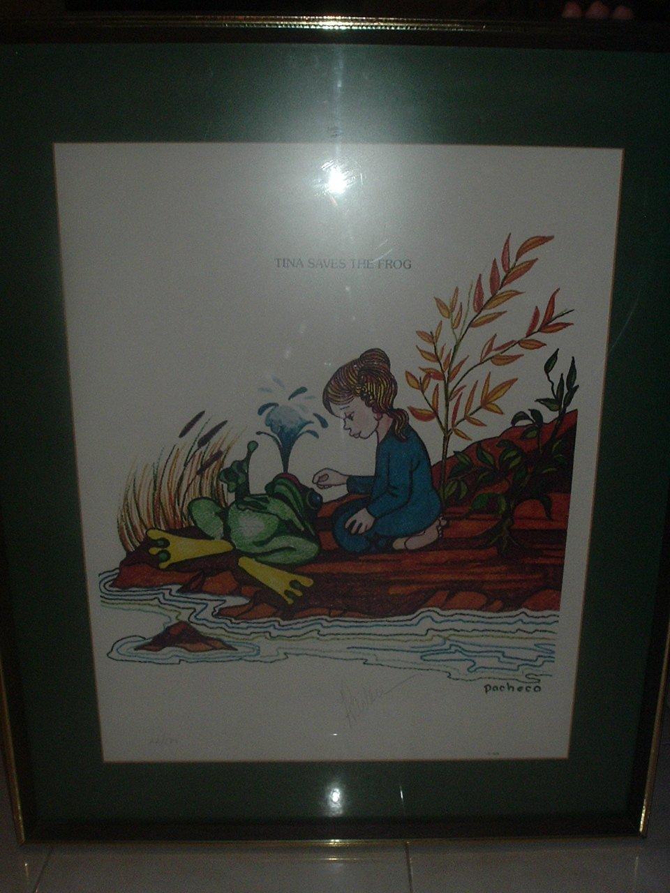 """Tina Saves The Frog   20"""" x 25"""" Lithograph"""