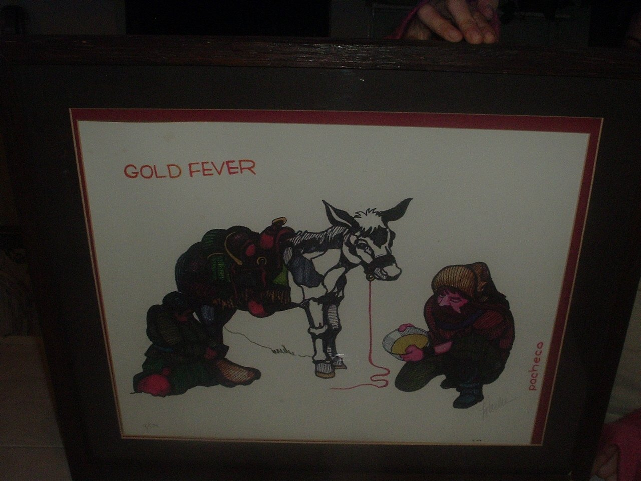 """Gold Fever  20"""" x 25"""" Lithograph"""