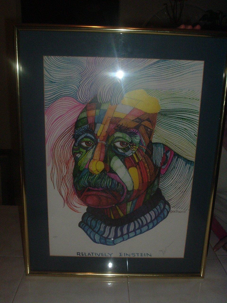 """Relatively Einstein  20"""" x 25"""" Lithograph"""
