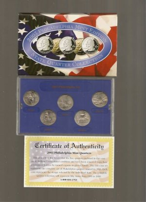 2003-P US Statehood Quarter Mint Set