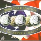 2000-D GOLD US Statehood Quarter Mint Set