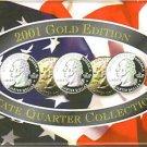 2001-D GOLD US Statehood Quarter Mint Set