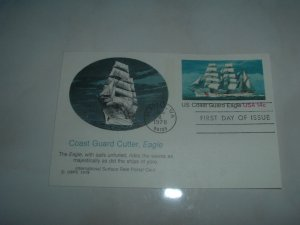 Coast Guard Cutter, Eagle FDC Post Card