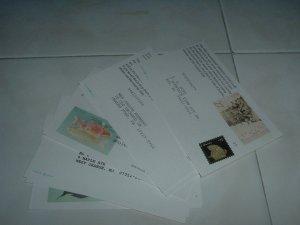 """13 Uncancelled  3.5"""" x 5.5""""  Post Cards"""