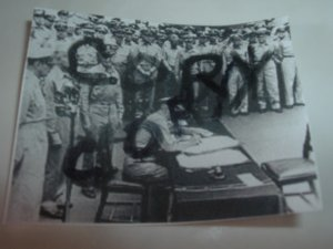 Copy of Orignial Declassifed Military Pic Of Surrender Sign