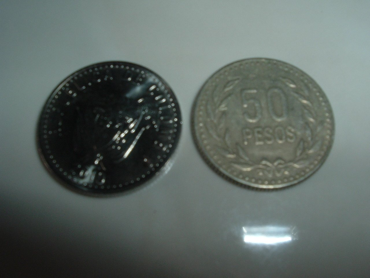 Colombian 50 Pesos Coin
