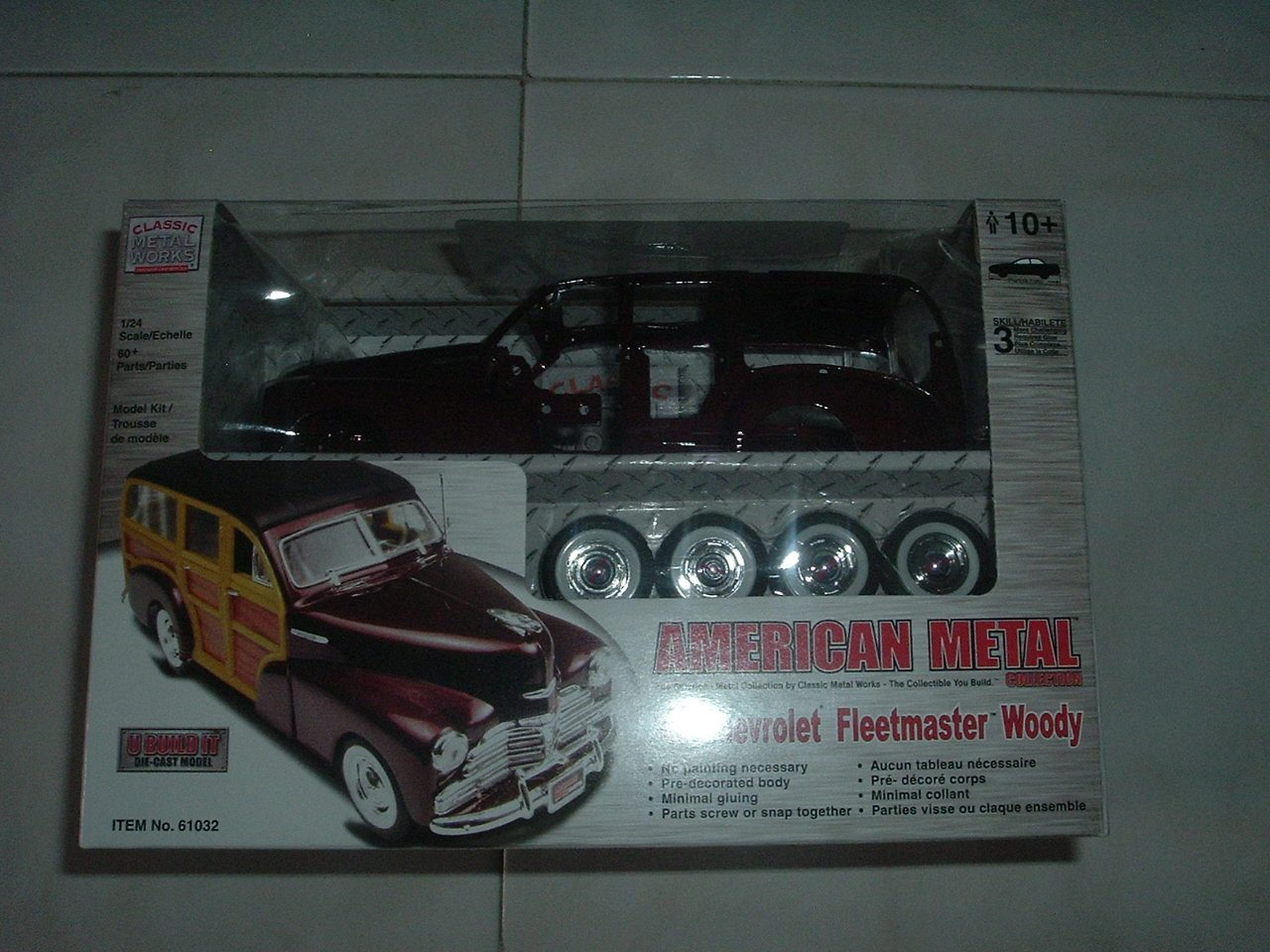 Die-Cast Metal '48 Chevy Fleetmaster Woody Model Kit