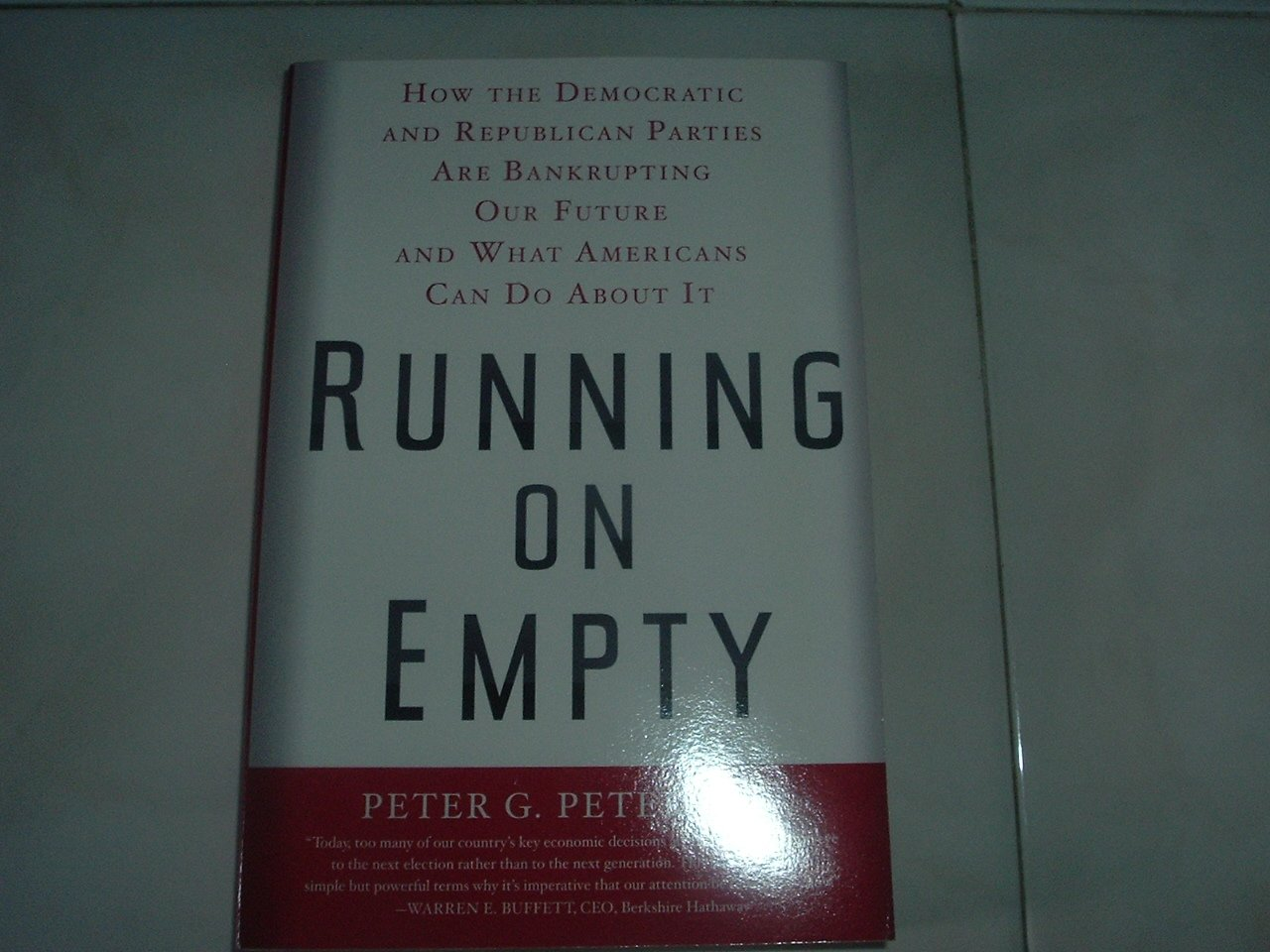 Running On Empty - Soft Cover