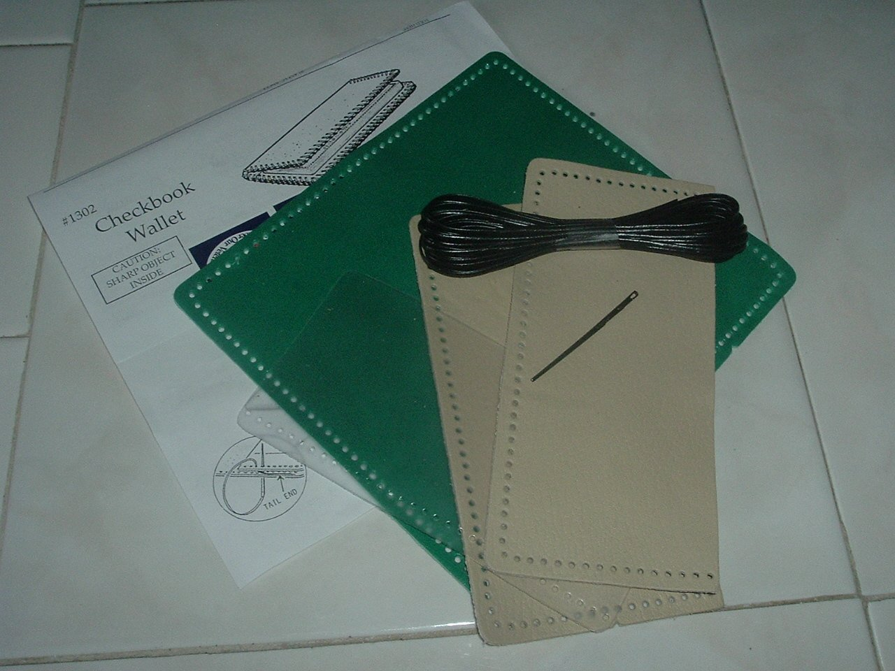 New Leather CheckBook Wallet Kit