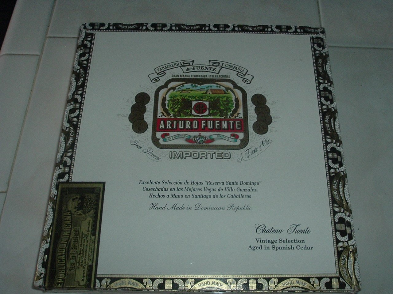 Imported Cigar Box with Tax Stamp