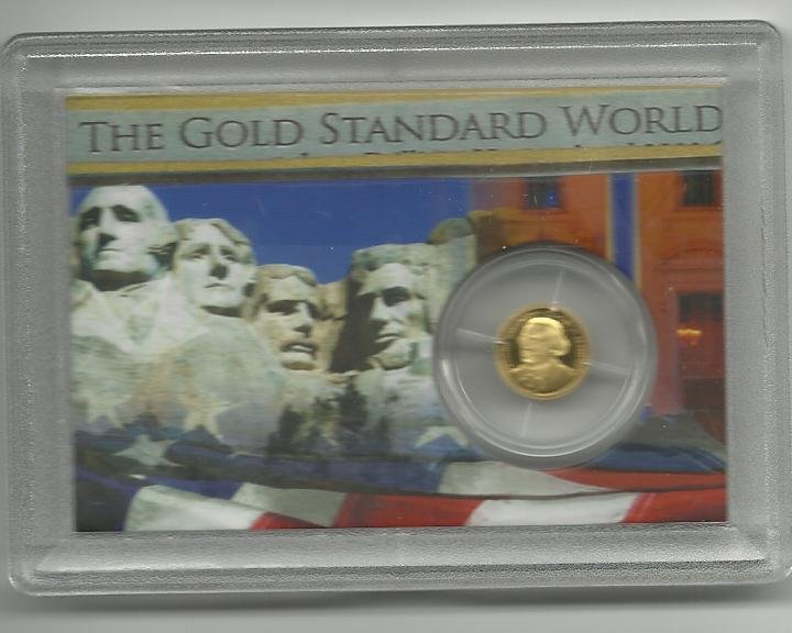 2009 Proof Solid Gold George Washington Collection