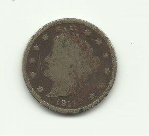 1911 #1 V Liberty nickel