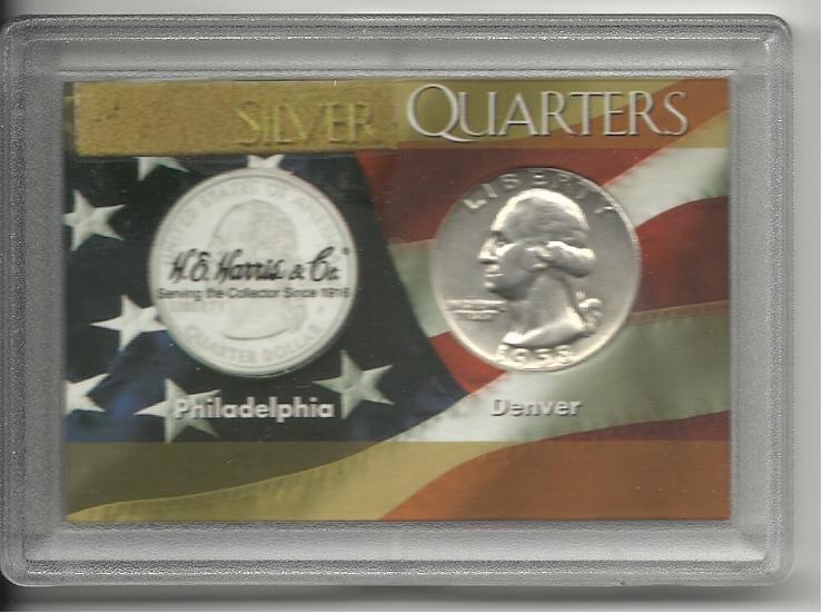 AU-50 1958-D Silver Washington Quarter Set
