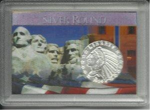 1929 Incuse Indian Head 1/4 Troy Oz. .999 Silver