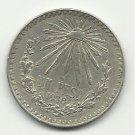 1938 #1 Mexican Un Peso Silver
