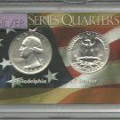 1964-D Unc. & 1964 Washington Silver Quarter Set