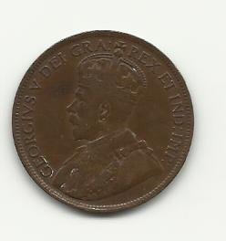1919 #1 Canadian one cent