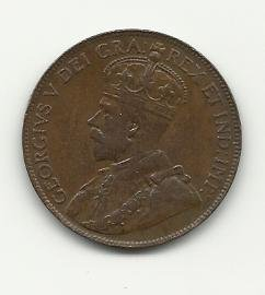 1920 #1 Canadian one cent.
