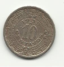 1939 #1  Mexican 10 Centavos