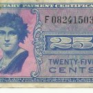 541 25c Series Military Payment Certificate