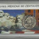 1981 Unc. Mexican 50 Centavos set