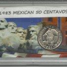 1983 Unc. Mexican 50 Centavos set