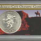 1968 Gem BU Mexico City Olympic Games Silver Commemorative