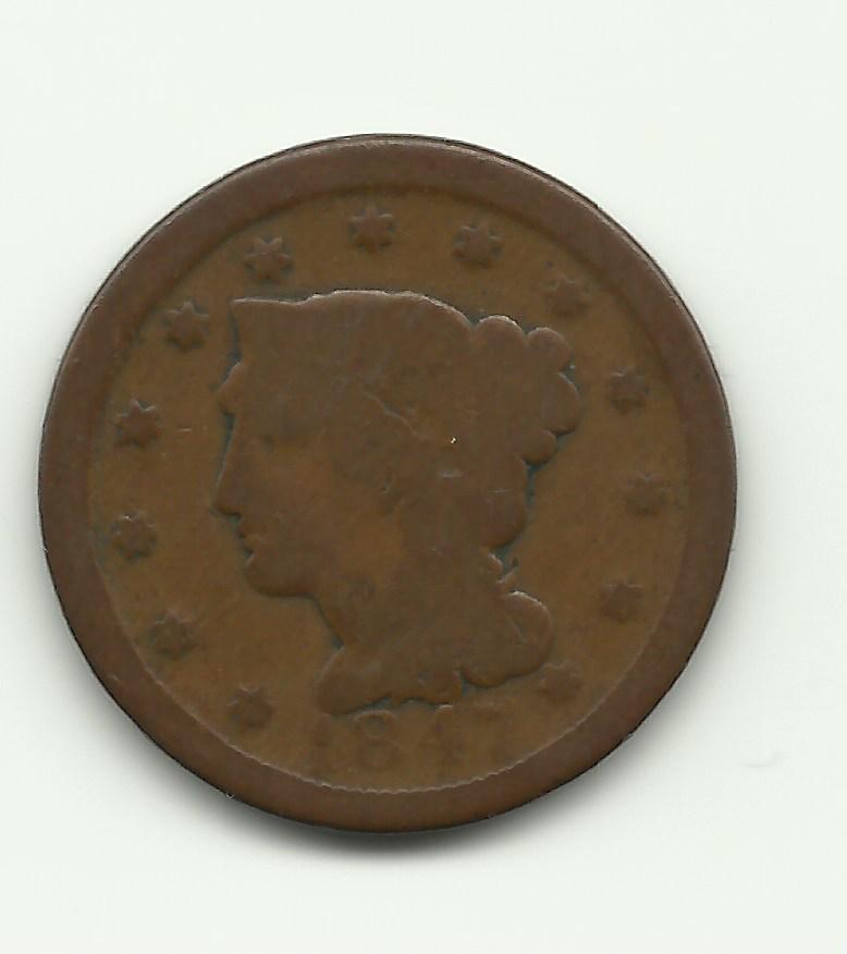 1847 Coronet Cent