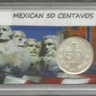 Gem BU 1944 #1 Mexican 50 Centavos Silver