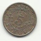 1936 #1 Mexican 5 centavos.