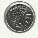 1992  #1  Cayman Island $.05 coin