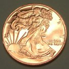 2011 Unc. One Oz. .999 Copper Walking Liberty Coin